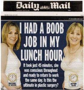 3 Daily Mail - I had a boob job in my lunch hour