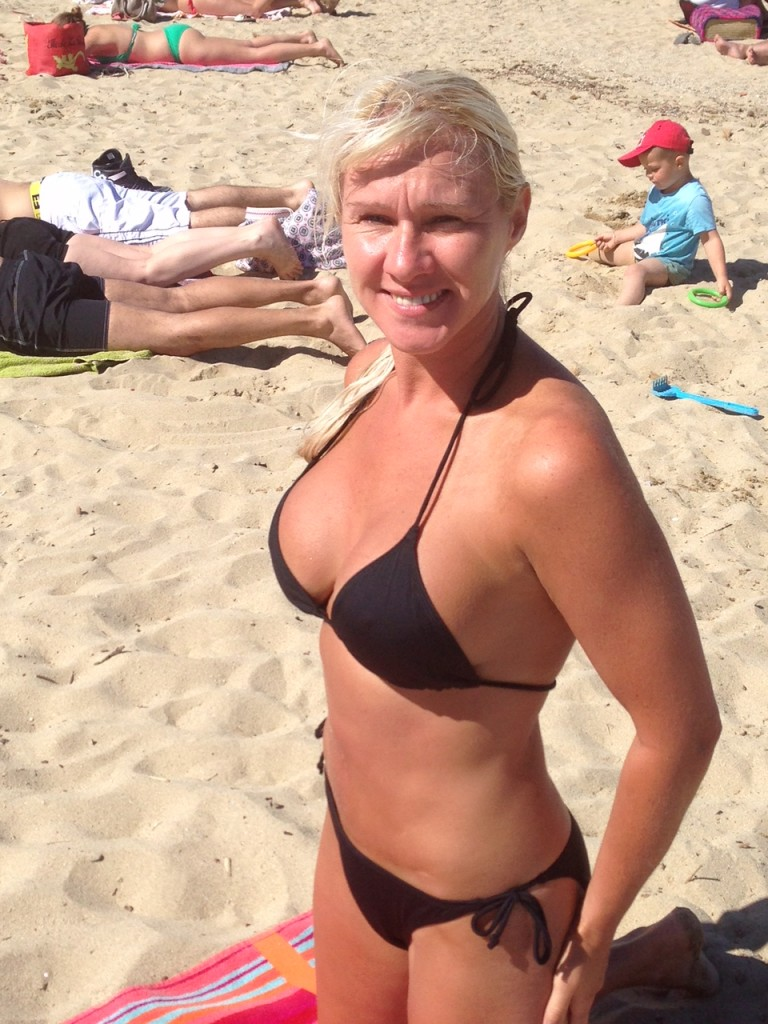 denise on th beach