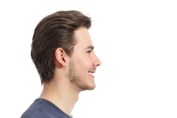 side profile man after nose reshaping
