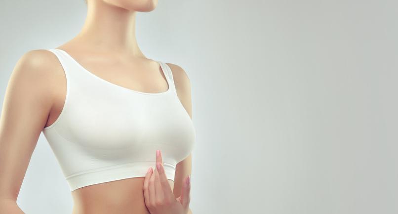 post nipple reconstruction woman wearing brace