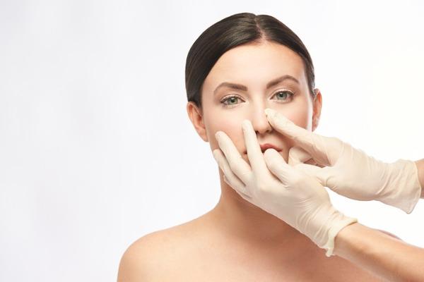 woman preparing for rhinoplasty