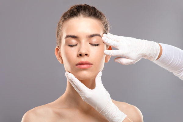 woman nose job consultation UK or abroad